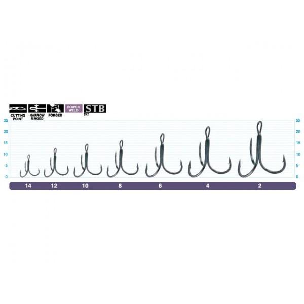 Triple Hook STN-36BC, 51621, Black Chrome